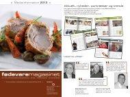 Download vores brochure med priser her! (pdf) - Fødevaremagasinet