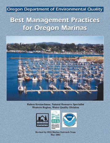 Best Management Practices for Oregon Marinas - Department of ...