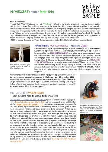 NYHEDSBREV vinter-forår 2010 - Vejen Kunstmuseum