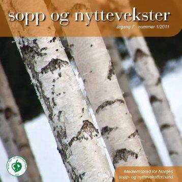 sopp og nyttevekster - Norges sopp- og nyttevekstforbund