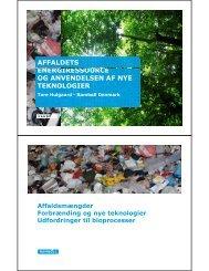 Affaldets energiressource og anvendelsen af nye teknologier - Dakofa