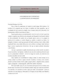 LOS MÁRGENES DE LA ESCRITURA/ LA ESCRITURA DE LOS ...