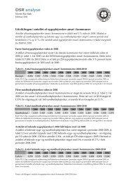 Udviklingen i antallet af sygeplejersker ansat i kommuner