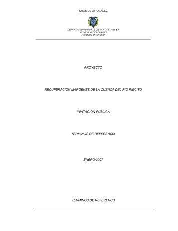 proyecto recuperacion margenes de la cuenca del rio riecito ...