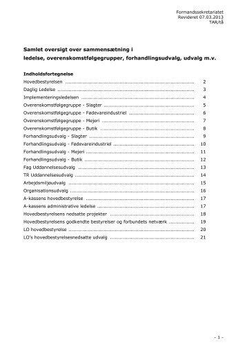 Samlet oversigt over sammensætning i - NNF