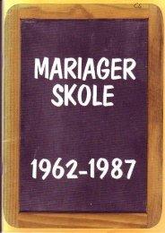 Mariager Skole 1962-87