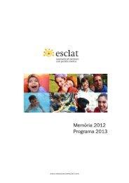 Memoria 2012 Programa 2013 - Associació Esclat