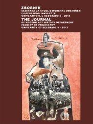 Zbornik seminara za studije moderne umetnosti br. 9 (pdf) - Atenaion