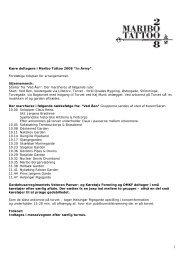 "Kære deltagere i Maribo Tattoo 2008 ""In Army"". Foreløbige tidsplan ..."