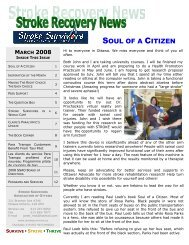 March - Stroke Survivors Association of Ottawa
