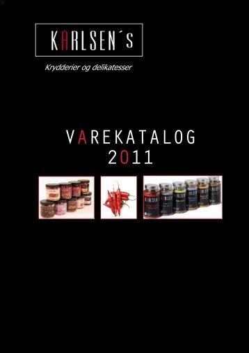 VAREKATALOG 2011 - Karlsen's Krydderier