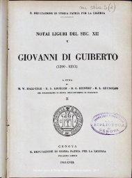 GIOVANNI DI GUIBERTO - Società Ligure di Storia Patria