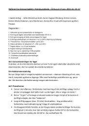 Referat fra Censormødet i Hjemkundskab – Århus d.17.jan. 2011 kl ...