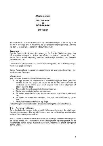 Fusionsaftale LDF skabelon SFA-version 24 1 2013