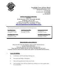 Searchlight Town Advisory Board - Clark County Nevada