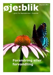 Forandring eller forvandling - Roskilde Baptistkirke
