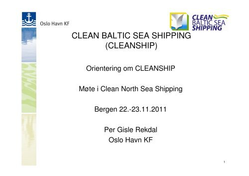 (Microsoft PowerPoint - CLEAN BALTIC SEA SHIPPING - CNSS - 22 ...