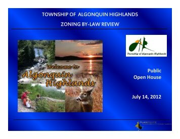 Zoning By-law Update Open House July 14, 2012 (pdf - 643KB)