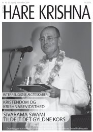 SIVARAMA SWAMI TILDELT DET GYLDNE KORS - ISKCON Danmark