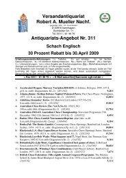 Antiquariats-Angebot Nr. 311 Schach Englisch 30 ... - Antikbuch24