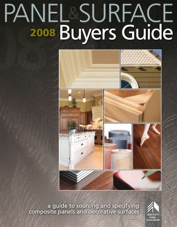 View CPA's comprehensive buyers guide to panels and surfaces.