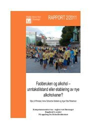 Fadderuken og alkohol - Rogaland A-senter