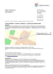 Landzonetilladelse, - Landzone - Ansøgning - ny bygning til ...