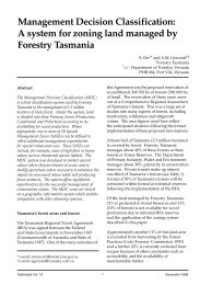 Management Decision Classification - Forestry Tasmania