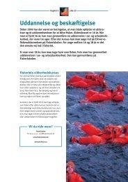 Kapitel 3 - Uddannelse og beskæftigelse - Fiskericirklen