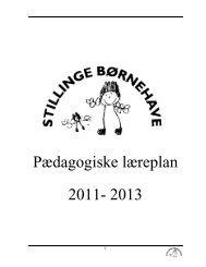 Pædagogiske læreplan 2011- 2013 - Slagelse Kommune