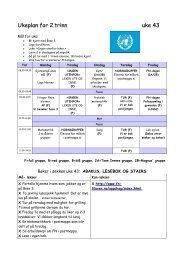 Ukeplan for 2.trinn uke 43 Ukeplan for 2.trinn uke ... - Wiki - Fetskolene