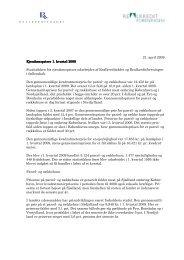 1. kvartal 2009 - Realkreditforeningen