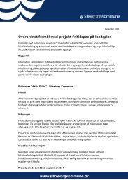 Overordnet formål med projekt Fritidspas på landsplan - Silkeborg ...