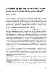 Den store og den lille kolonialisme - Grøn- lands kolonihistorie i ...