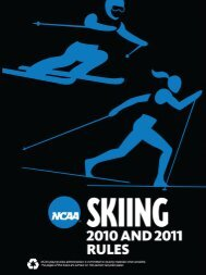 2010 and 2011 NCAA Skiing Rules - HsSkiReg
