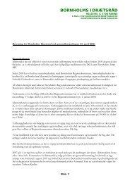 Beretning 2008 - Bornholms Idrætsråd