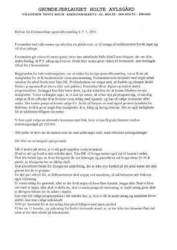2001 01 09 Referat ekst ord generalforsamling