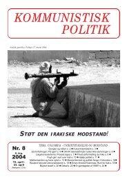 Kommunistisk Politik 8, 2004