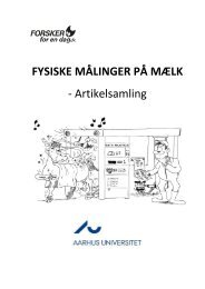 Fysiske mlinger p mlk - DCA - Nationalt Center for Fødevarer og ...