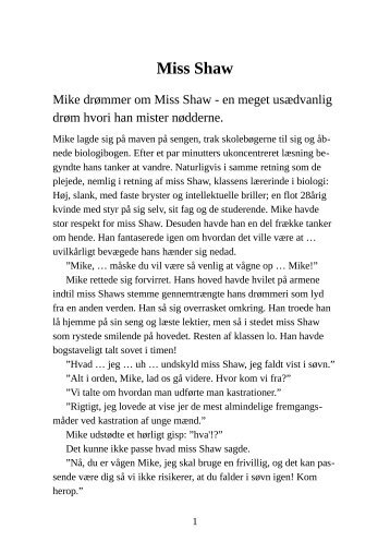 Miss Shaw - Pornobiblioteket.dk