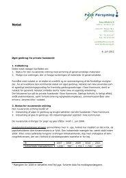 Notat Øget genbrug fra private husstande 6. juli ... - Faxe Kommune