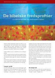 De bibelske fredsproftier af Martin Wemmelund - Kirken Underviser