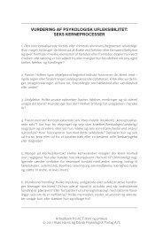 vurdering af psykologisk ufleksibilitet: seks kerneprocesser - Dansk ...