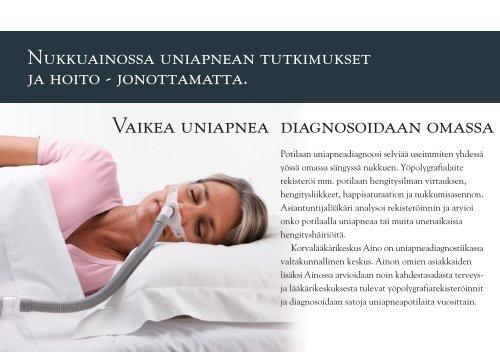 Uniapnea ja sen hoito tiedote. Nukkuaino Järvenpää 2012.pdf