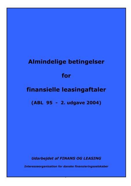 ABL95 almindelige betingelser for leasing - LandbrugsInfo