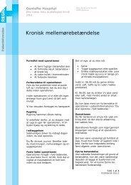Kronisk mellemørebetændelse - EPIS - Gentofte Hospital