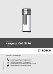 Bosch Compress 3000 Datablad