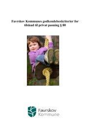 Godkendelseskriterier for Privat Børnepasning - Favrskov Kommune