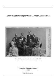 Efterkommere af Niels Pedersen Levinsen - Thorborg - Liisberg ...
