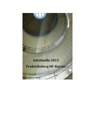 Introhæfte 2013 Frederiksberg HF-Kursus